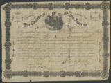 $5000 Confederate bond certificate issued to E. C. Elmore, December 2, 1862